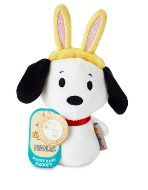 Hallmark Easter Itty bittys Peanuts Snoopy With Bunny Ears Plush New Tag