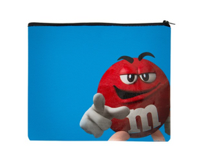 M&M's World Red Character It's Not Easy Being This Amazing Recycled Pouch New
