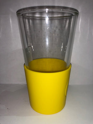 M&M's World Yellow Silicone Sleeve Pint Glass New