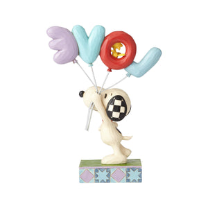 Peanuts Snoopy with LOVE Balloon Jim Shore Figurine New with Box