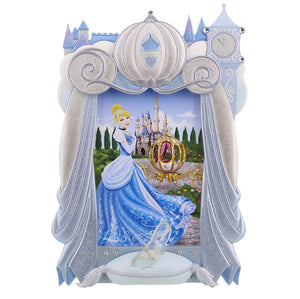 "disney parks princess cinderella resin photo frame 4""x6"" new"