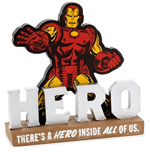 Hallmark Iron Man There's a Hero Inside All of Us Quote Resin Sign New