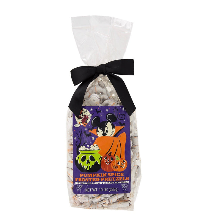 Disney Parks Halloween Candy Pumpkin Spice Frosted Pretzels New