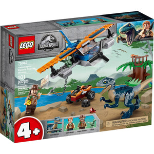 Lego 75942 Jurassic World Velociraptor Biplane Rescue Mission Dinosaur New Sealed Box