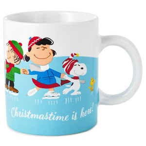 Hallmark Peanuts Gang Christmas is Here Ice Skating Coffee Mug 10 oz New