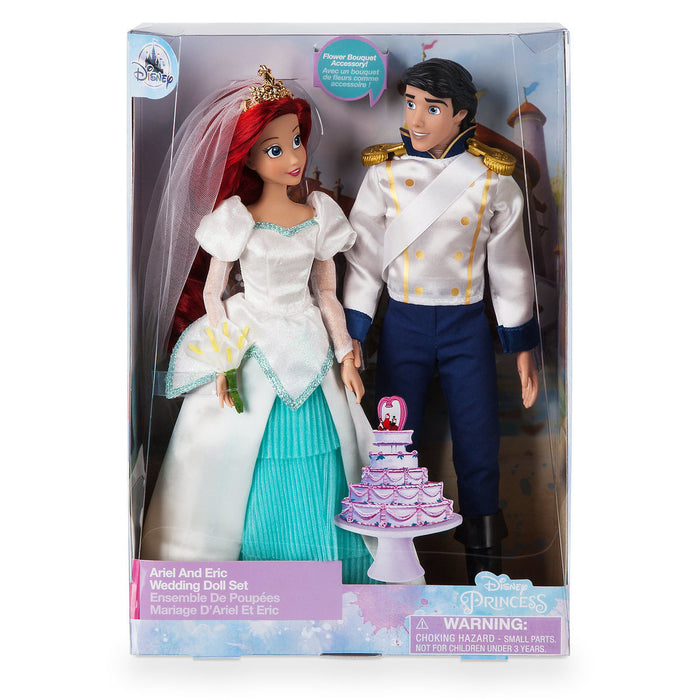 Disney Ariel And Eric Classic Wedding Doll Set The Little Mermaid New with Box
