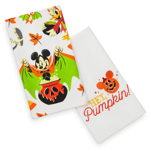 Disney Mickey and Friends Halloween Kitchen Towel Set New with Tags