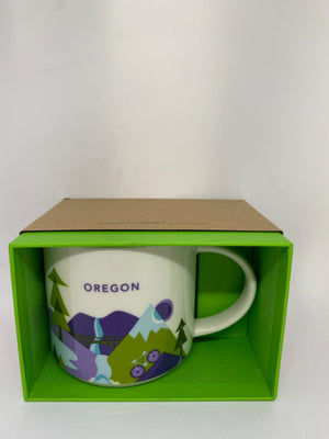 Starbucks You Are Here Oregon Ceramic Coffee Mug New With Box