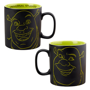 Universal Studios 4-D Shrek Big Face Ceramic Coffee Mug New