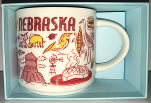 Starbucks Coffee Been There Nebraska Ceramic Coffee Mug New with Box