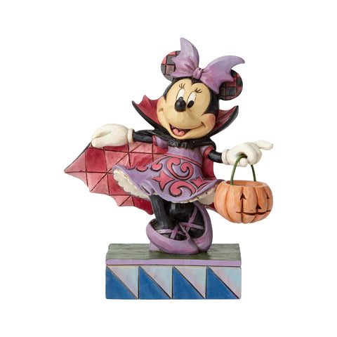 Disney Traditions Jim Shore Halloween Vampire Minnie Mouse Figurine New with Box