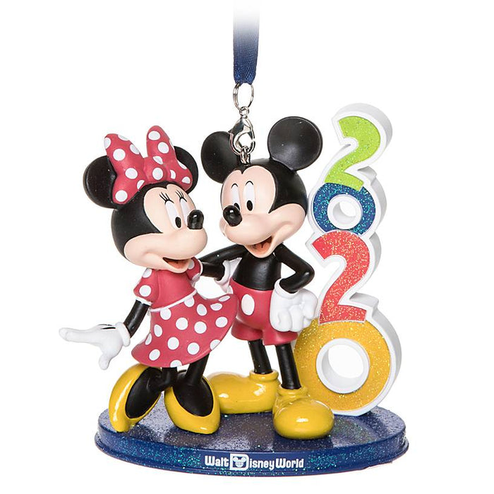 Disney Parks WDW 2020 Mickey Minnie Figural Christmas Ornament New with Tag