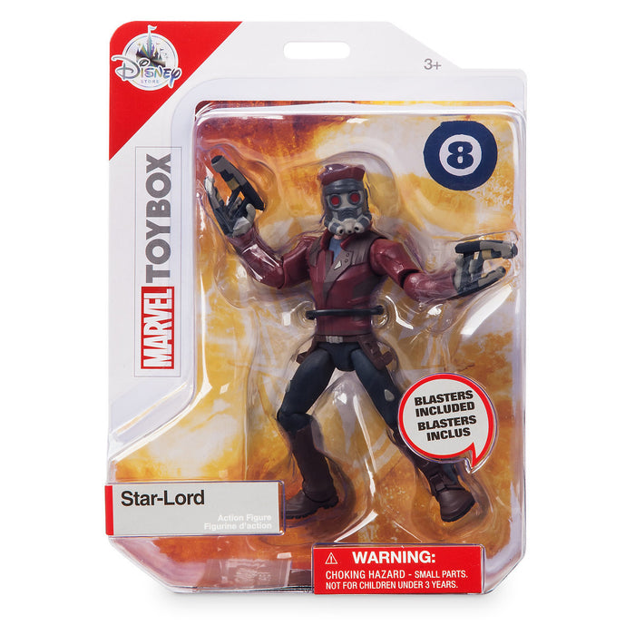 Disney Store Marvel Star-Lord Action Figure Toybox New with Box