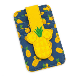 Disney Parks Mickey Mouse Pineapple Card Case New