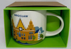 Starbucks You Are Here Collection Wroclaw Poland Ceramic Coffee Mug New Box