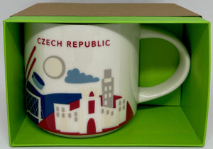 Starbucks You Are Here Czech Republic Ceramic Coffee Mug New with Box