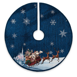 Disney Parks Christmas Minnie and Mickey Sleigh Holiday Cheer Tree Skirt New Tag