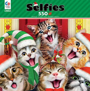 Ceaco Selfies Christmas Kitty 550 pcs Jigsaw Puzzle New with Box