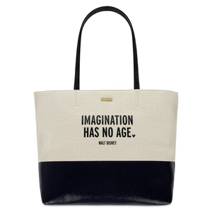 Disney Imagination Has No Age Canvas Glitter Tote by Kate Spade New with Tag
