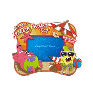 universal studios spongebob and patrick on the beach photo picture frame new