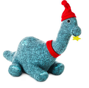 Hallmark Christmas Björn the Brontosaurus with Hat and Scarf Plush New with Tag