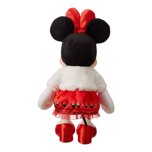 Disney Store Minnie Mouse Holiday Plush Medium Christmas 2018 New
