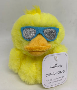 Hallmark Easter Chick with Sunglasses Zip A Long Plush New with Tag
