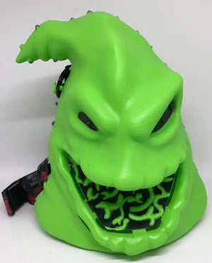 Disney Parks Halloween Oogie Boogie Light Up Popcorn Bucket with Lanyard New