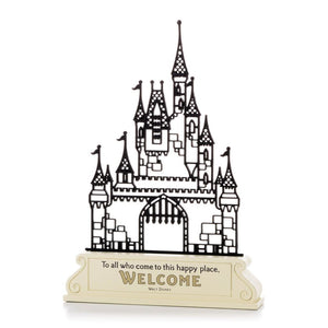 Hallmark Disney Castle Silhouette Happy Place Welcome Figurine New