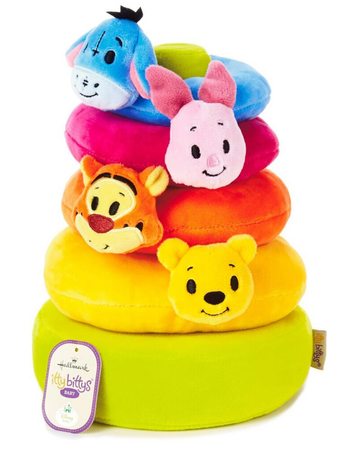 Hallmark Itty bittys Winnie the Pooh Baby Plush Stacker New with Tag