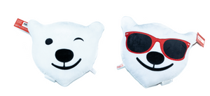 Authentic Coca-Cola Polar Bear Wink Sunglasses Emoji Pillow New with Tags