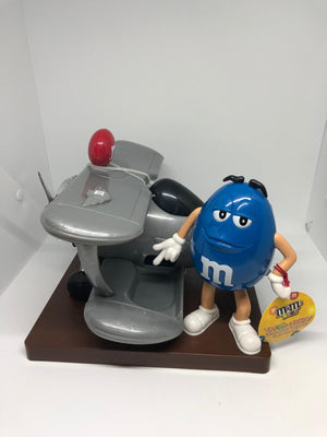 M&M's World Blue Character Airplane Candy Dispenser New with Tag