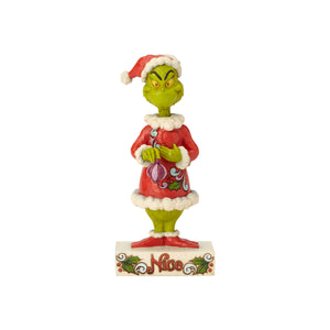 Jim Shore Two Sided Naughty Nice Grinch Figurine New with Box