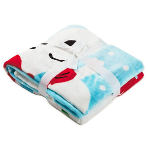 Hallmark Peanuts Snoopy Woodstock Ice Skating Holiday Throw Blanket 50x60 New