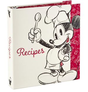 Hallmark Disney Mickey Mouse Recipe Organizer Book New