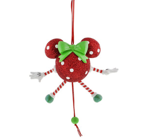 disney parks minnie mouse dancing christmas ornament new with tags