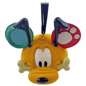 disney parks pluto resin christmas ear hat ornament new with tags