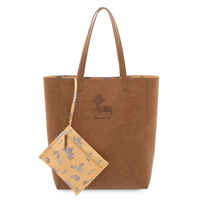 Disney Winnie the Pooh Tote Bag With Zip Pouch from Film Christopher Robin New