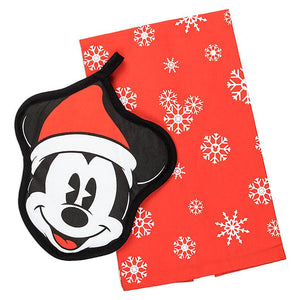 Disney Mickey Mouse Holiday Pot Holder and Towel Set New with Tags