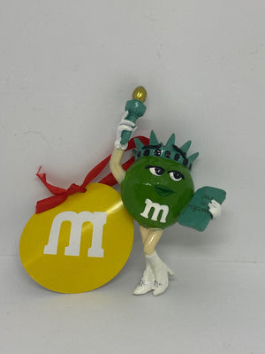 M&M's World NYC Green Liberty Resin Christmas Ornament New with Tag
