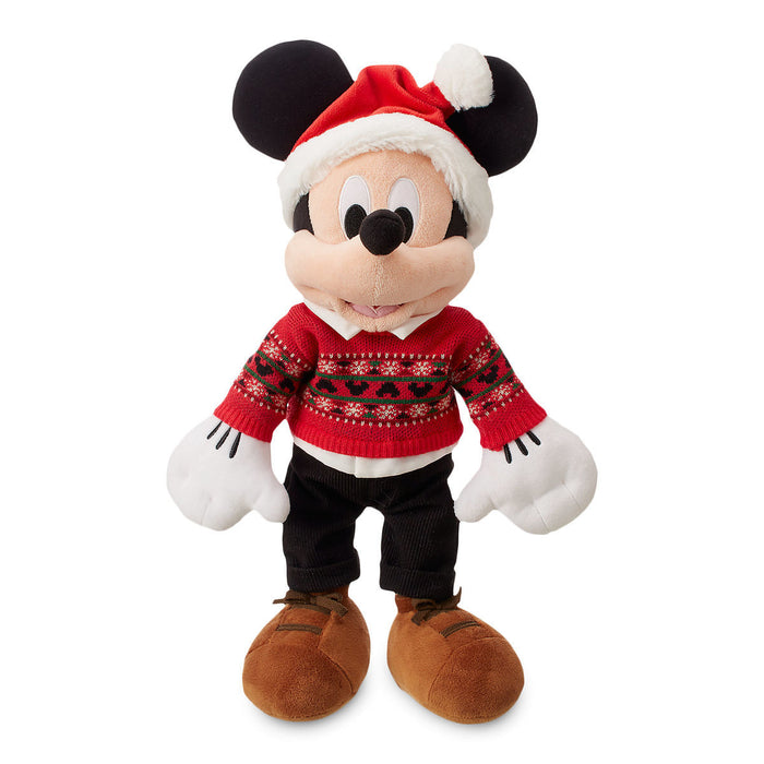 Disney Store Mickey Mouse Holiday Plush Medium Christmas 2018 New