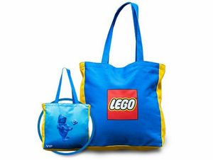 Lego VIP Exclusive Reversible Canvas Tote Bag New with Tags