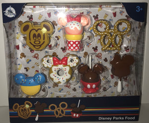 Disney Parks Food Figures Figurines Set 7 Minnie Mouse Ice Cream Mickey Cookie