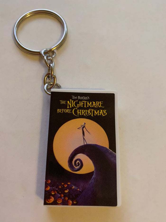 Disney Store Mystery VHS Keychain The Nightmare Before Christmas New with Box