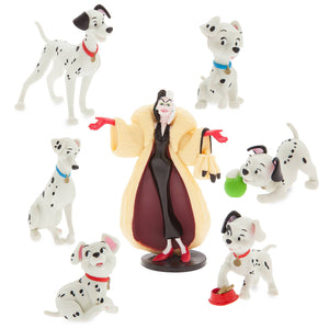 Disney Store 101 Dalmatians Figure Play Set Playset Cake Topper New