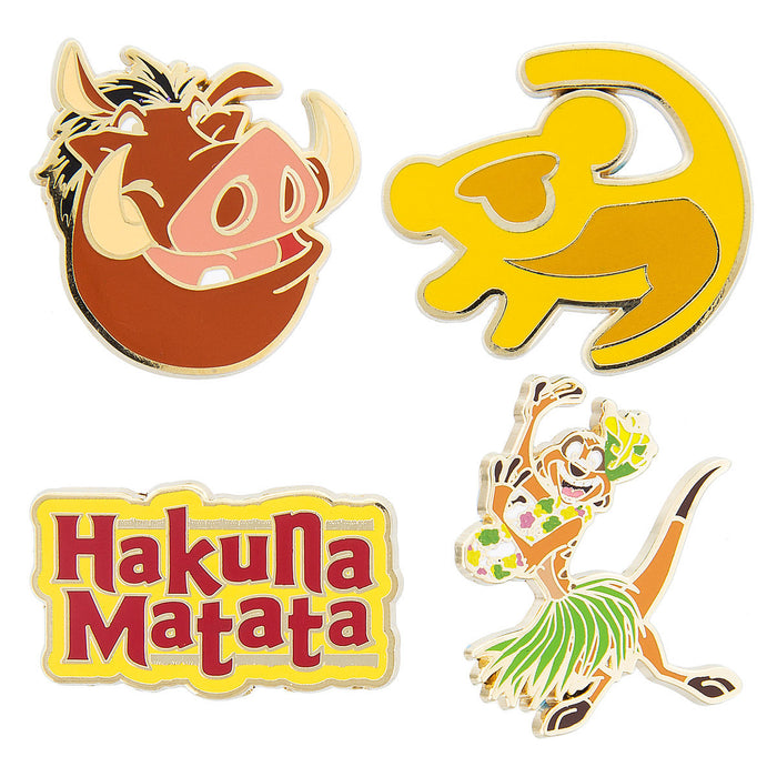 Disney The Lion King Pin Trading Flair Set Timon Pumbaa Hakuna Matata Simba New