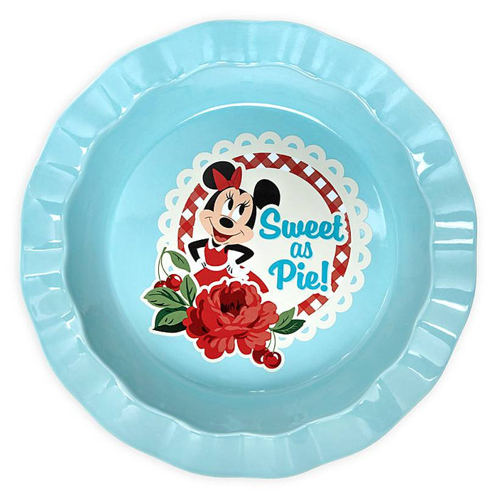 Disney Parks Back in the Day Minnie Retro Pie Dish New
