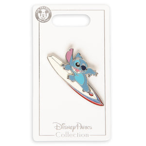 Disney Parks Stitch Surfer Pin New With Card