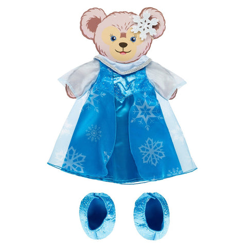 "Disney Parks Frozen Elsa Costume Set for 17"" Shelliemay Bear New with Box"