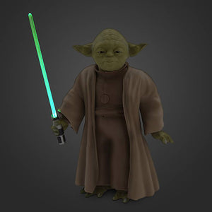 "Disney Star Wars Yoda with Lightsaber Talking Action Figure 9"" inc New with Box"